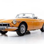 MG cabrio oranje-