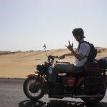 Moto Guzzi V7 Ambassador 1970 6 - Karakum woestijn Turkmenistan