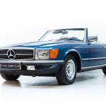 Mercedes 280SL blauw-