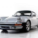 Porsche 930 Turbo zilvergrijs-