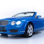 Bentley Continental cabrio blauw-
