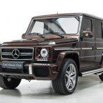 Mercedes G63 AMG bruin-