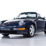 Porsche 964 cabrio blauw-
