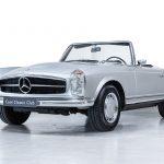Mercedes 280SL zilver-