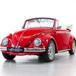 Volkswagen Kever cabrio rood-