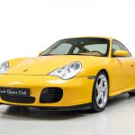 Porsche 996 Carrera 4S geel-